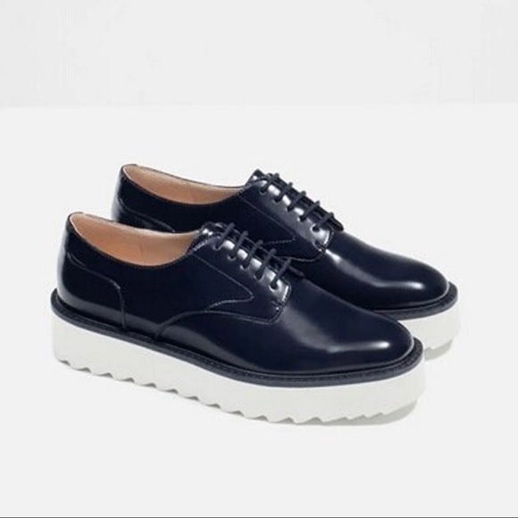 Zara Shoes - Zara Bluchers Platform Oxfords Size 6
